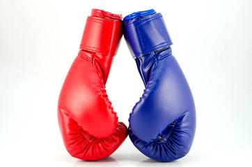 Fototapeta Boxing gloves on a white background close up obraz