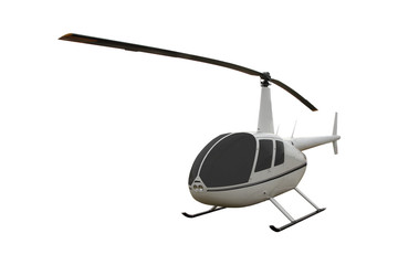 helicopter on a white background