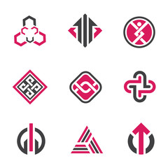 Graphic symbols and technology concept