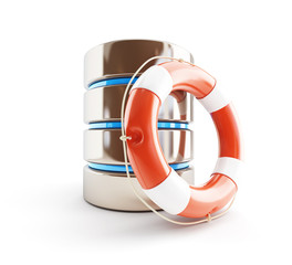 database icon life buoy 3d Illustrations