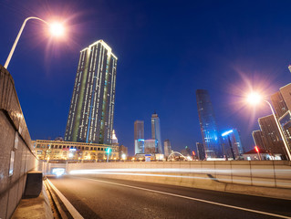 modern city at night ,tianjin