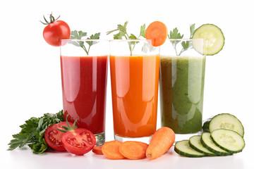 assortment of vegetable juice