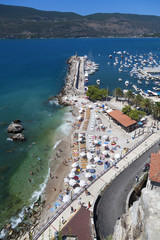 Beach and Port in Herceg Novi, Montenegro
