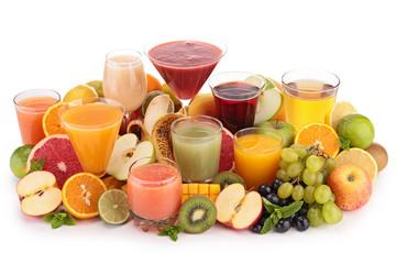 fruit juice isolated on white