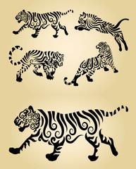 Tiger Curl Ornament Decoration