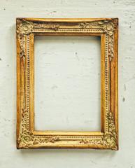 Golden baroque old frame