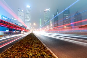 modern city night