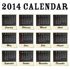 2014 calendar - each month framed as a photo