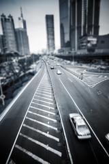 Fotobehang Treinstation street at shanghai