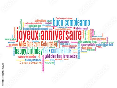 chanson anniversaire toutes langues