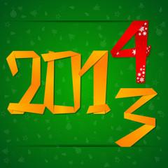2014 New Year celebration card
