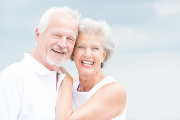 Smiling senior couple