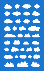 Set of vectorized Clouds