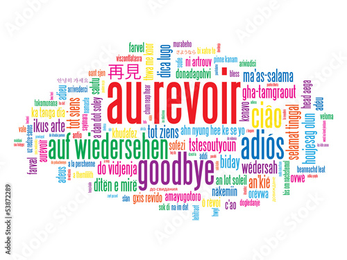 "Assez Carte ""AU REVOIR"" (adieux salut bon voyage bonne chance)"" Stock  PK13"