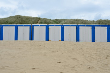 Wall Mural - Beach cabines in the sand Holland