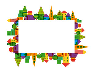 Colorful city frame