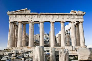 Detail of Parthenon temple Acropolis
