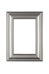 Silver frame isolated on white with clipping path