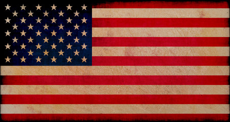 usa flag on grungy background