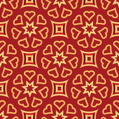 Christmas Repeating Pattern in Burgundy and Gold