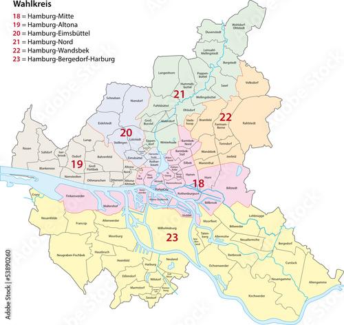 Hamburg Wahlkreise