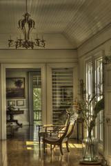 interior of historic home