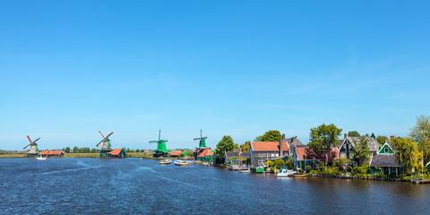 Panoramic view of the Dutch Zaanse Schans