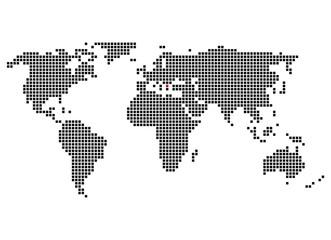 Pixelweltkarte mit Markierung von Athen