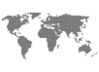 Weltkarte mit Markierung von Stockholm