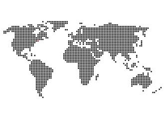 Pixelweltkarte mit Markierung von New York