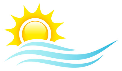Sun, Ocean & Waves Logo
