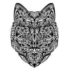 Pattern in a shape of a wolf.