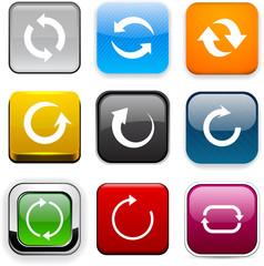 Square color arrow icons.