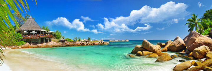 holidays in tropical paradise. Seychelles islands