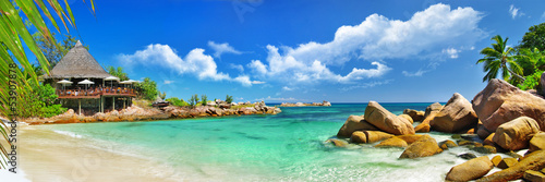 Wall mural holidays in tropical paradise. Seychelles islands