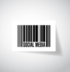 social media barcode ups code illustration