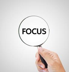 focus letters under the magnifier