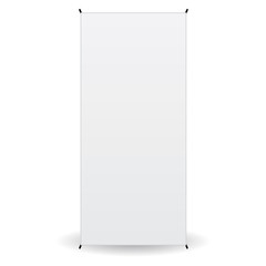front banner x-stands display isolated