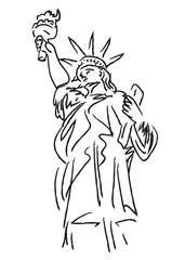 Statue de la liberte_Dessin
