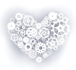 Mechanical Heart (white)
