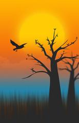 Landed Bird