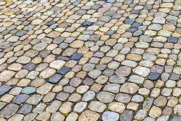 background of cobblestone pavement