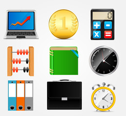 business icon vector illustration set1