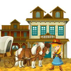 Cowgirl or Cowboy - wild west - illustration