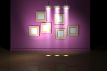 Rahmen Wand Lampe P