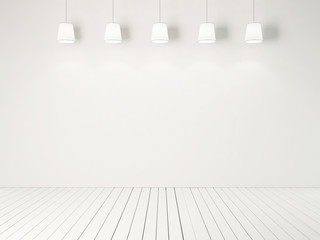 lamps on the white wall