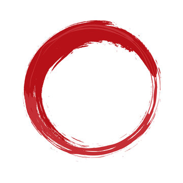 painted red circle