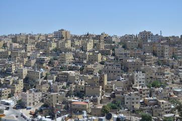 Top view of Amman city - Jordan