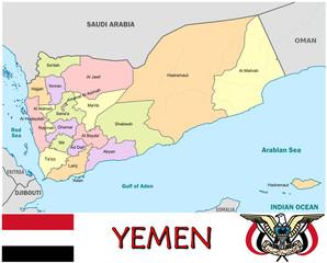 Yemen Middle East national emblem map symbol motto