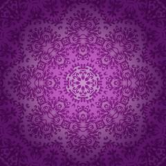 Lace circle oriental ornament, ornamental doily pattern on viole